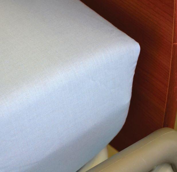 Drap housse coton blanc 1 personne - Securimed