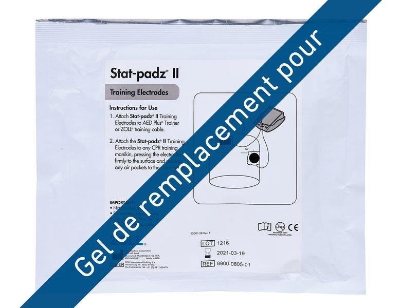 Gel de remplacement pour électrodes de formation Zoll AED Plus