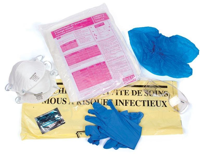 Kit de protection pour risques infectieux