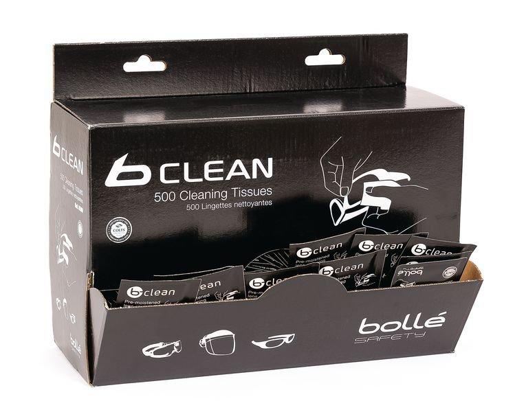 Distributeur 500 lingettes pour lunettes b-clean Bollé Safety - Securimed