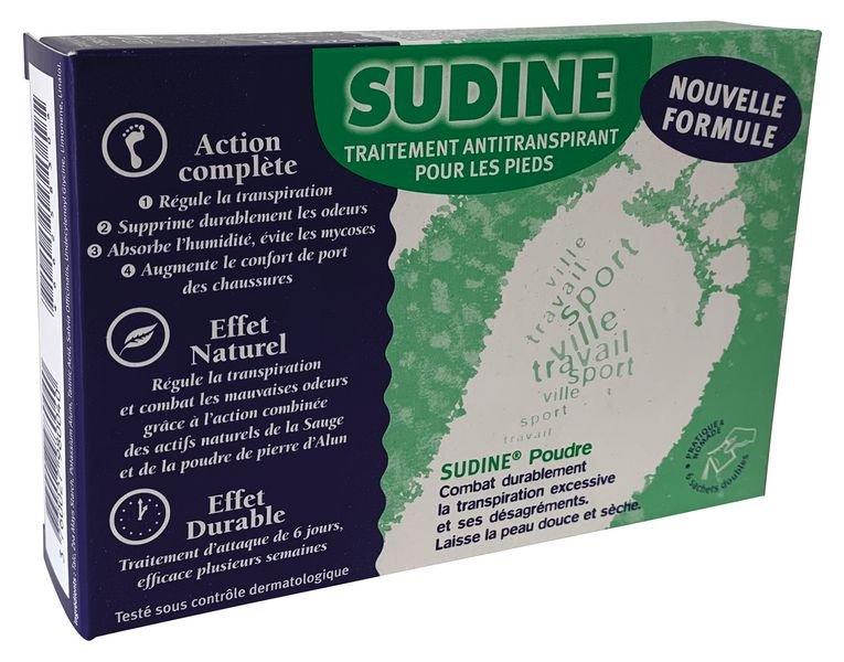 Sudine poudre, 6 sachets doubles - Hygiène des pieds