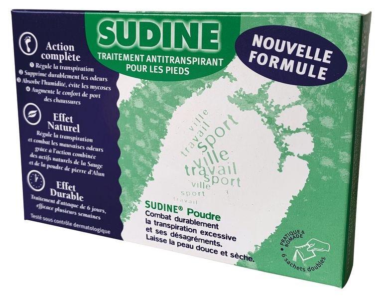 Sudine poudre, 6 sachets doubles - Hygiène corporelle