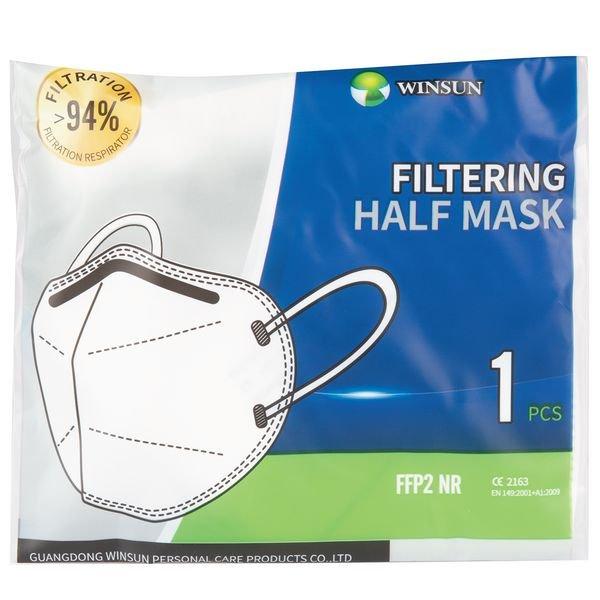 Masque coque FFP2 NR - Protection à usage court ou unique