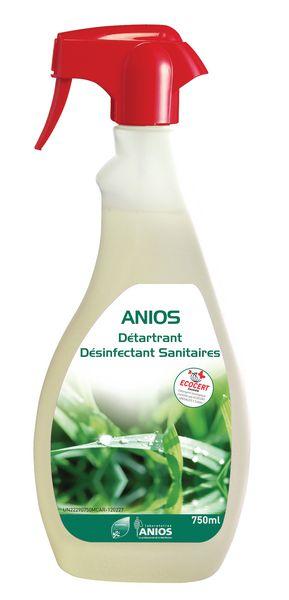 Gel sanitaires détartrant désinfectant Anios Ecocert