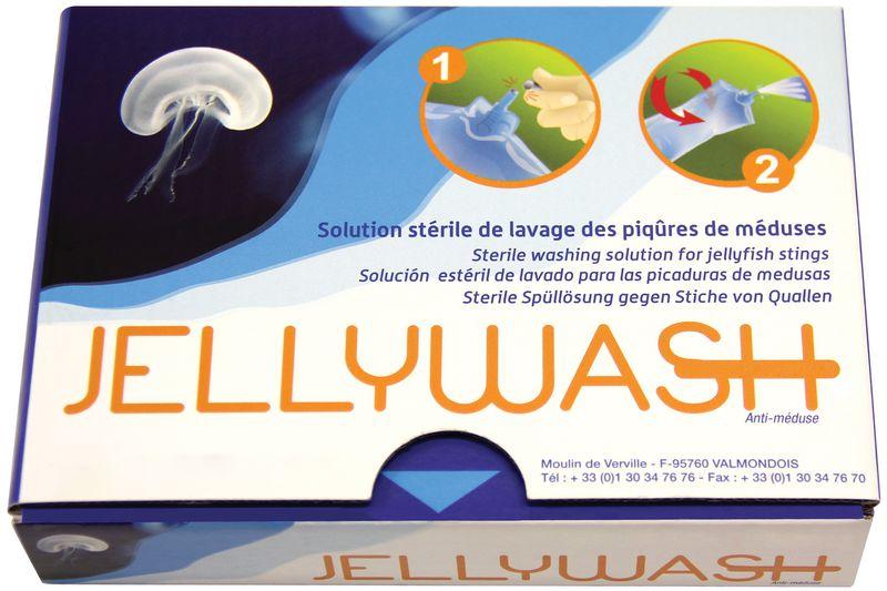 Jellywash solution stérile de lavage des piqûres de méduses
