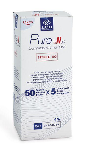 Compresse en non-tissé stérile