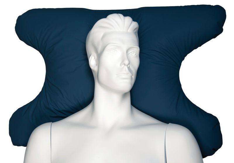 Oreiller ergonomique pour patient avec masque à oxygène