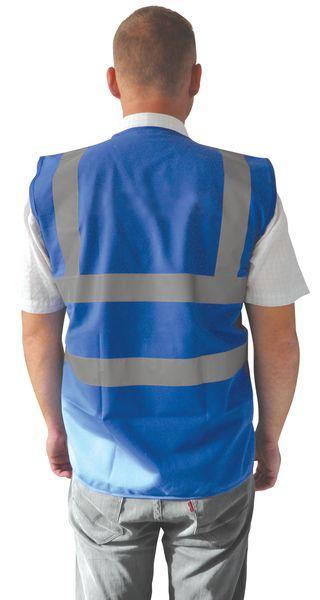 Gilet de sécurité bleu personnalisable