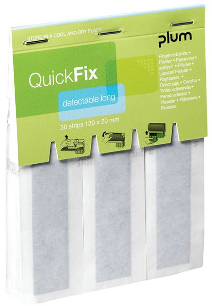 Recharge pansements longs détectables QuickFix PLUM