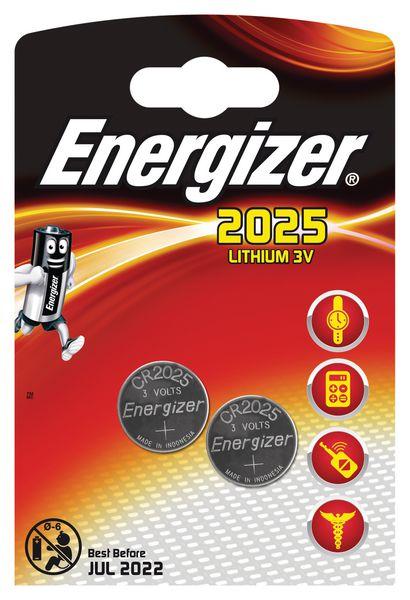 Piles lithium bouton CR2025