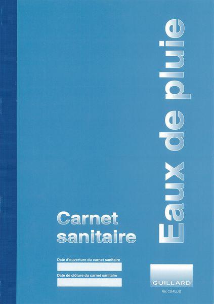 Carnet sanitaire des eaux de pluie