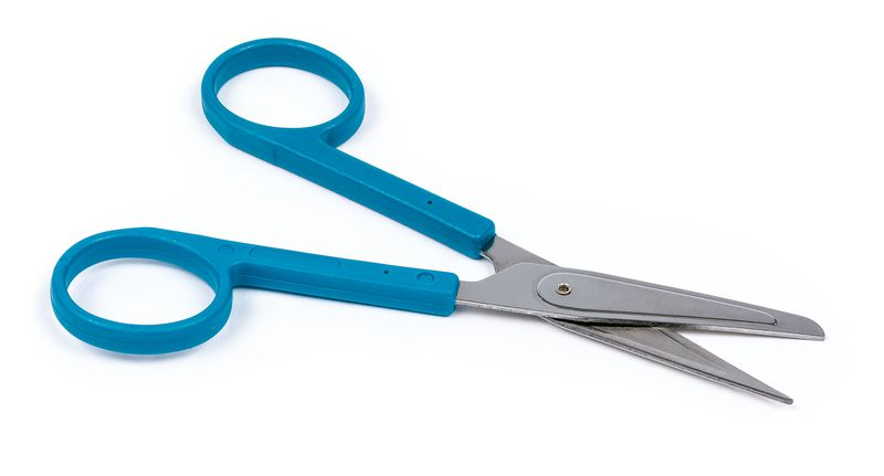 Ciseaux de suture stériles bouts pointu / mousse