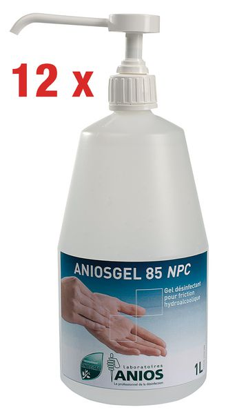 Lot de 12 gels hydoalcooliques Aniosgel 85 NPC 1 L