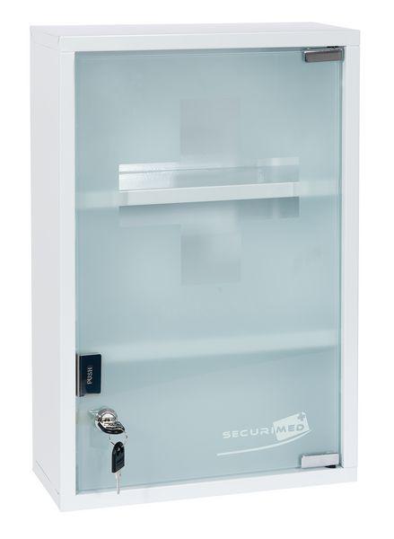 Armoire à pharmacie métal 1 porte vitrée - vide