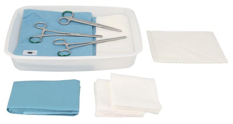 Set de soins accouchement avec pinces kocher