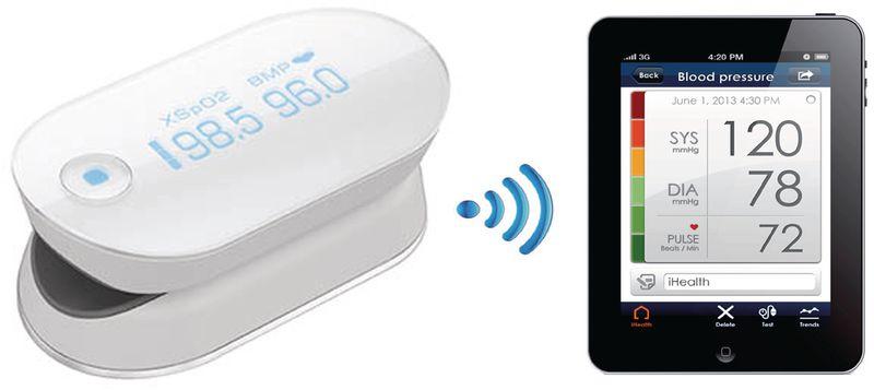 Oxymètre de pouls sans fil iHealth® PO3M