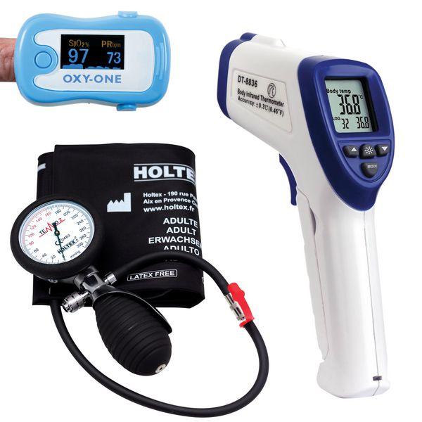 Offre pack diagnostic : tensiomètre, oxymètre et thermomètre