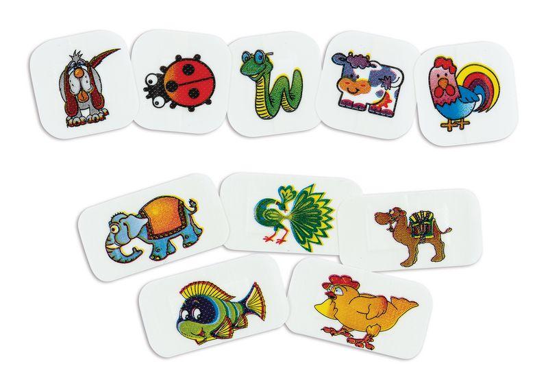 Assortiment de pansements enfants avec motifs animaux