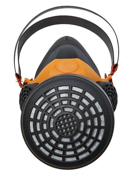 Demi-masque respiratoire en caoutchouc pour 1 filtre