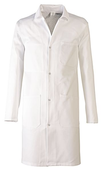 Blouse blanche 100% coton mixte à manches longues