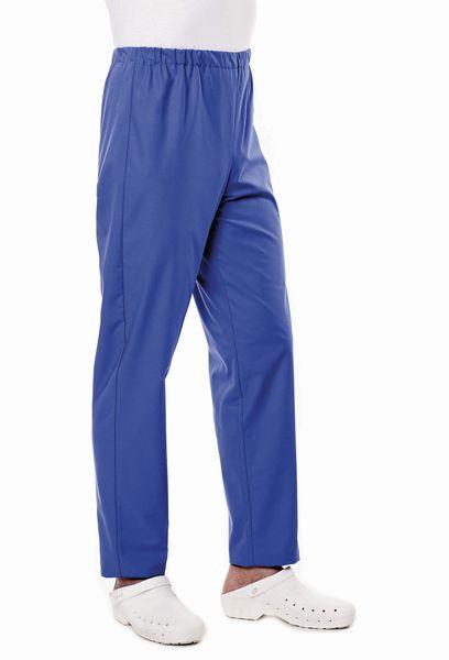 Pantalon médical mixte bleu pour bloc opératoire Pliki