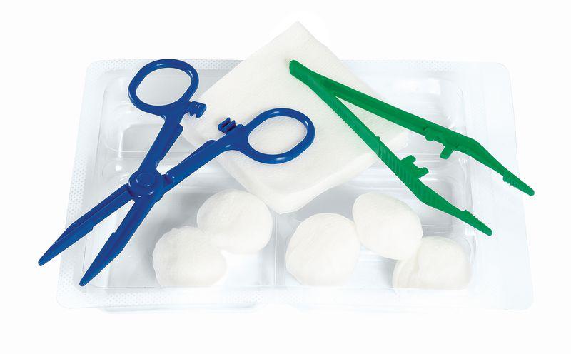 Set de pansement avec tampons et compresses
