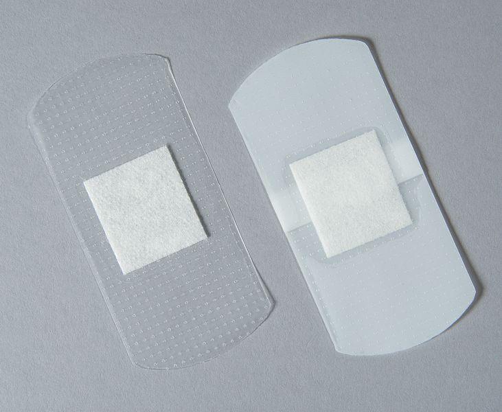 Pansements transparents prédécoupés
