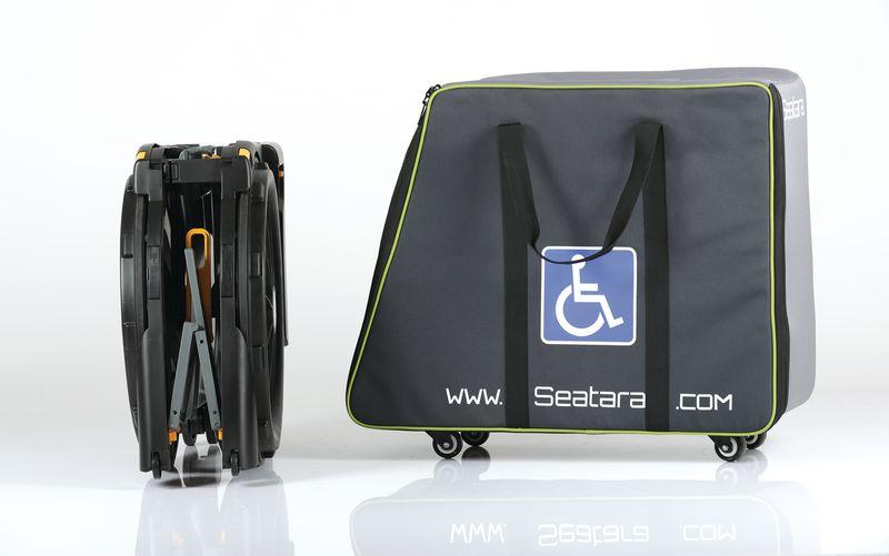 Sac de transport à roulettes pour fauteuil d'aisance
