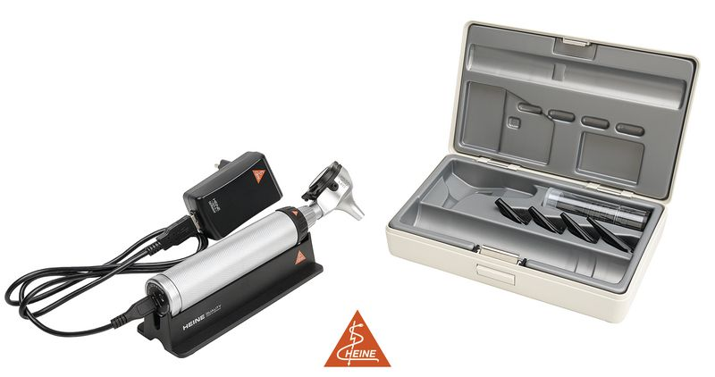 Otoscope Heine Beta® 400 à fibre optique LED USB