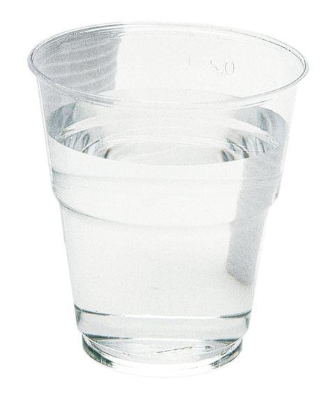 Gobelets médicaux en plastique transparent