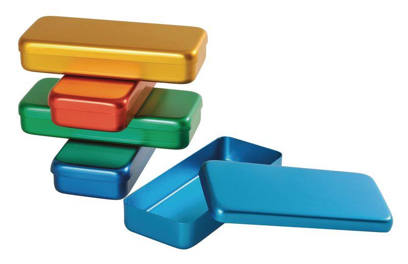 Boîtes de stérilisation colorées