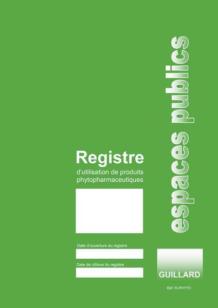 Registre - Utilisation de produits phytopharmaceutiques