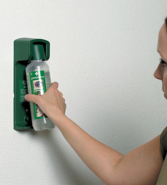 Support mural porte-flacon pour lave-œil LNS 500 ml