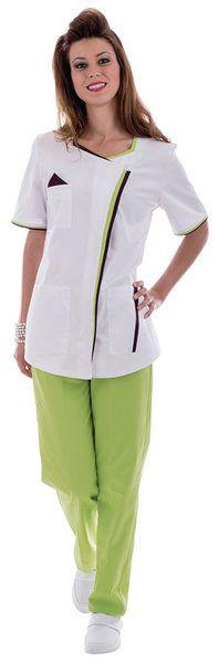Tunique médicale femme avec parement bicolore Léa