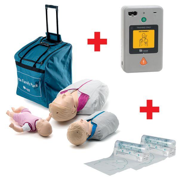 Pack famille Little QCPR avec défibrillateur trainer 3