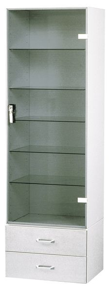 Vitrine armoire à pharmacie 1 porte 2 tiroirs