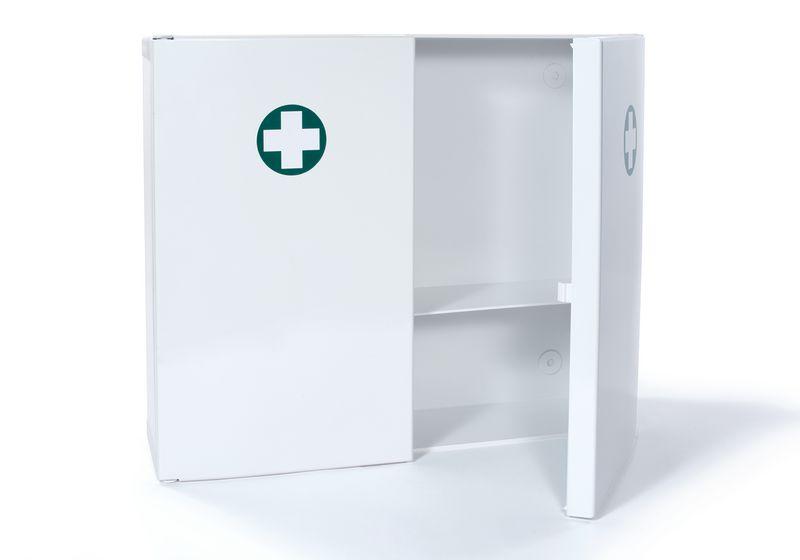 armoire pharmacie en abs 2 portes vide securimed. Black Bedroom Furniture Sets. Home Design Ideas