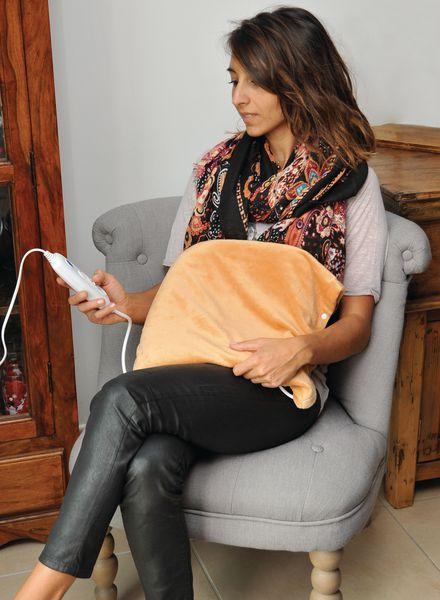 Coussin chauffant électrique avec housse