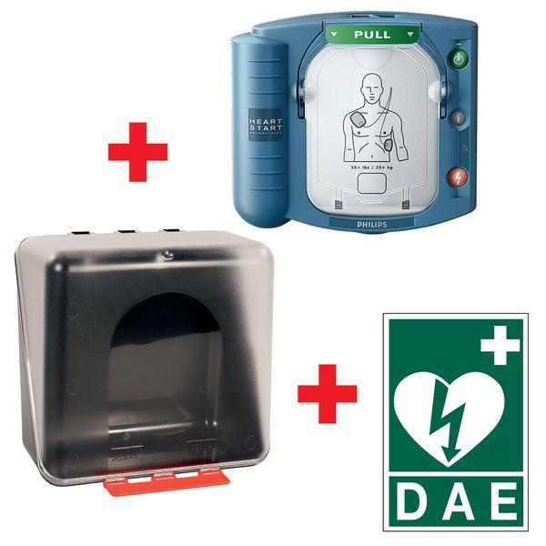Offre pack défibrillateur HS1, armoire et signalétique