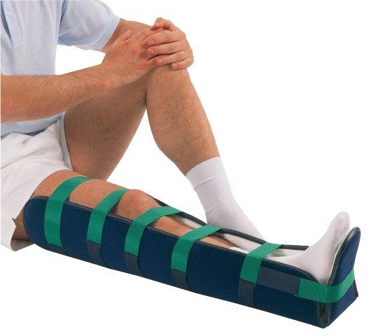 Attelle Aluform en aluminium pour jambe et talon adulte