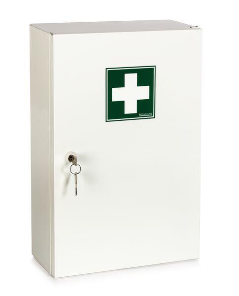 armoire pharmacie m tal 1 porte garnie securimed. Black Bedroom Furniture Sets. Home Design Ideas