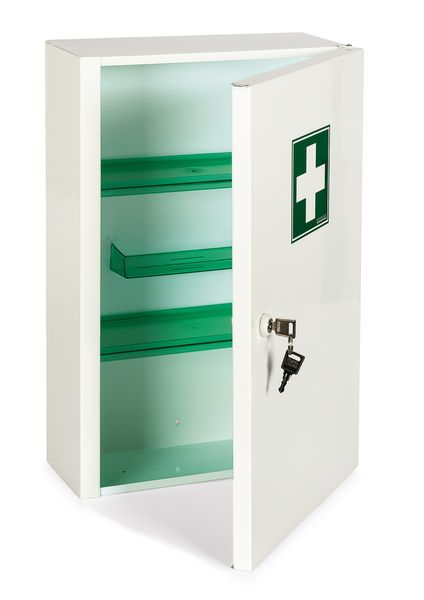 armoire pharmacie m tal 1 porte vide securimed. Black Bedroom Furniture Sets. Home Design Ideas