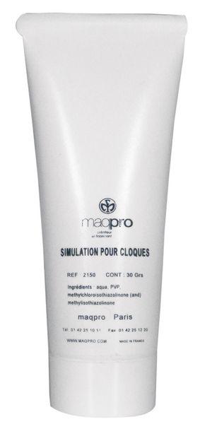 Maquillage de simulation des cloques