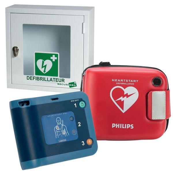 Offre pack défibrillateur FRX avec housse et armoire