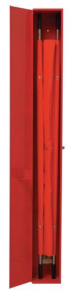 Armoire métallique pour brancard pliable