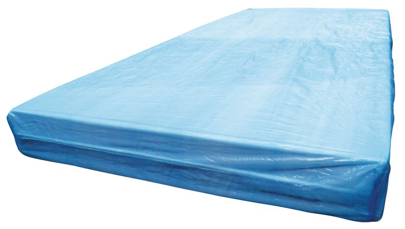 Drap housse plastifié bleu à usage unique