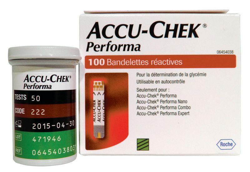 Bandelettes pour lecteur de glycémie Accu Chek®