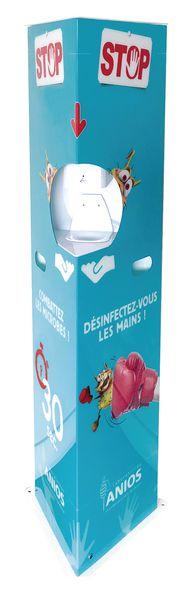 Totem distributeur électronique de gel hydroalcoolique design