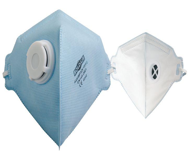 Masque respiratoire FFP2 pliable à valve