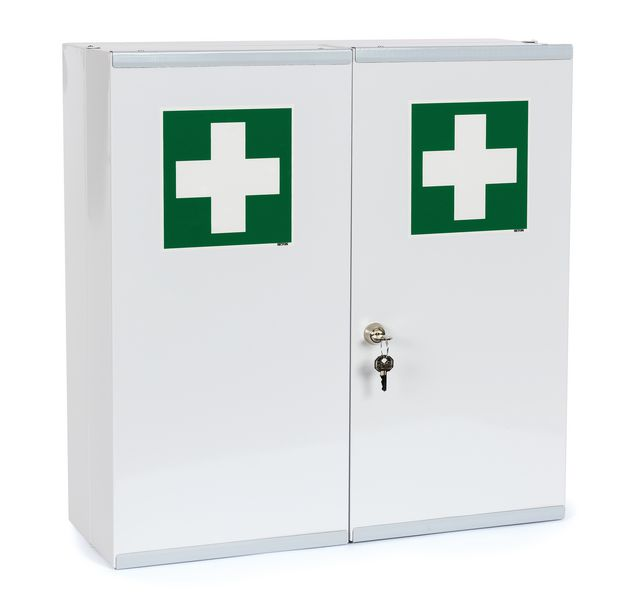 Armoire à pharmacie métal 2 portes - vide
